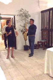 Palazzo Tilli di CASOLI (Italia) Sassofonista,5 augustus 2018